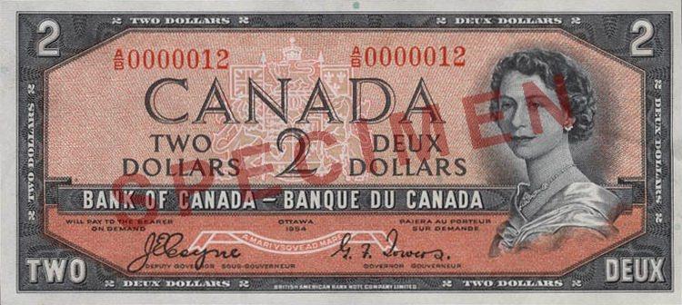 Banknot, na którym rzekomo można dopatrzyć się twarzy diabła we włosach królowej