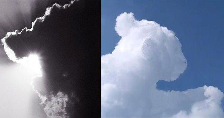 pareidolia - przykład chmura