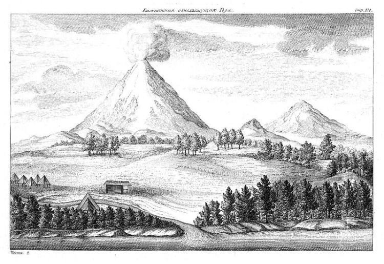 Kamczatka, ilustracja z poł. XVIII w.
