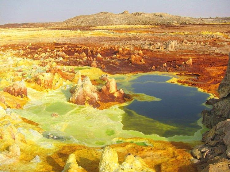 Najgorętsze miejsca na świecie - Pustynia Danakilska
