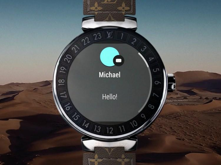 smartwatch Tambour Horizon od Louis Vuitton
