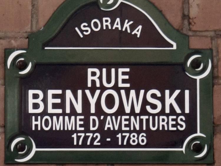 Ulica imienia Maurycego Beniowskiego na Madagaskarze