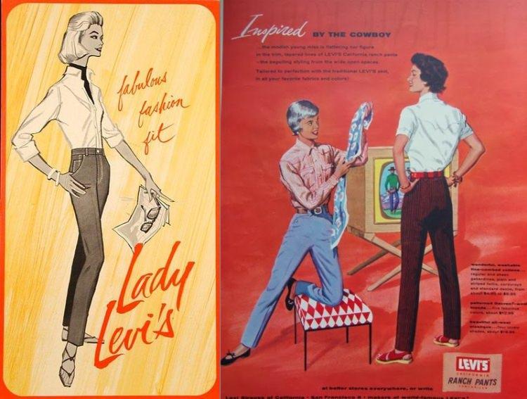 Lady Levis - pierwsze w historii jeansy dla kobiet