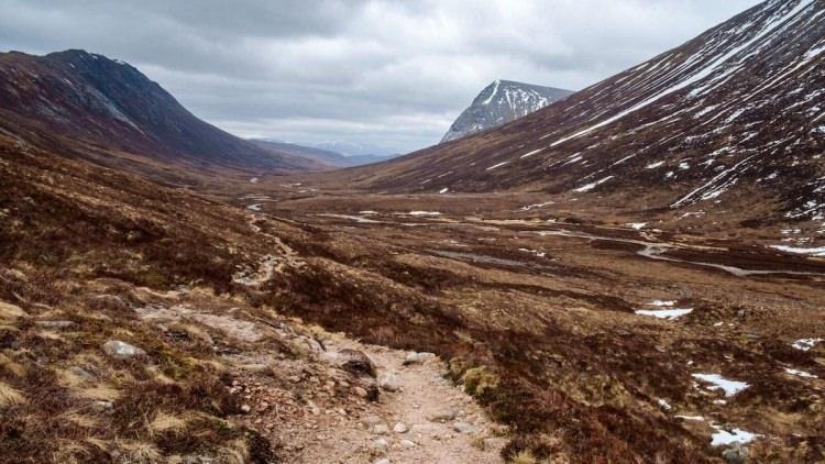 Lairig Ghru w Szkocji