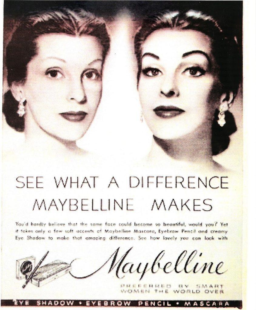 Reklama Maybelline z 1937 roku