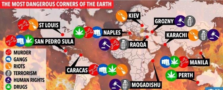 najbardziej niebezpieczne miasta na świecie