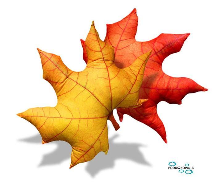 poduszka w kształcie liścia