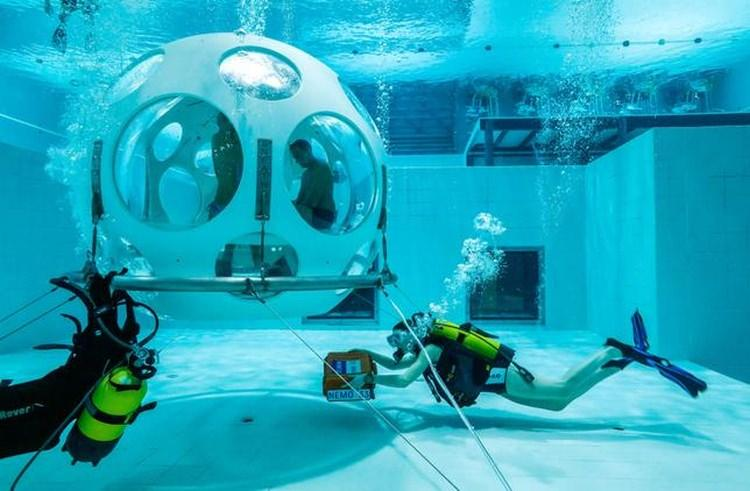 Podwodna restauracja w Brukseli
