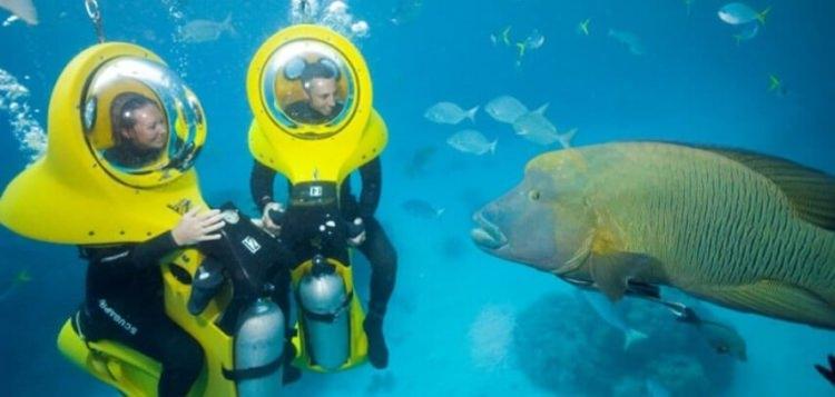 Podwodny skuter na Muritiusie