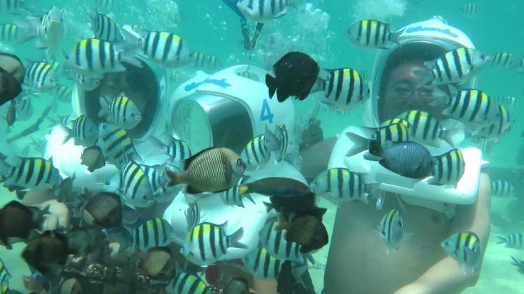 Podwodny spacer na Bali