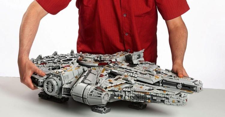 Sokół Millenium z klocków Lego - największy zestaw w historii