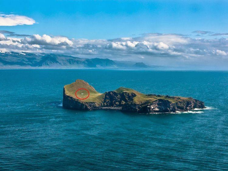 domek mysliwski z sauną na wyspie Elliðaey