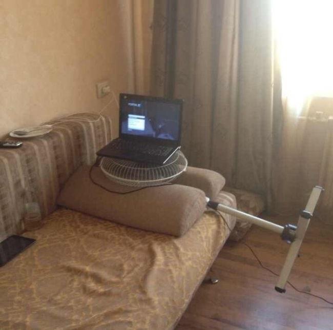 lifehack - chłodzenie laptopa