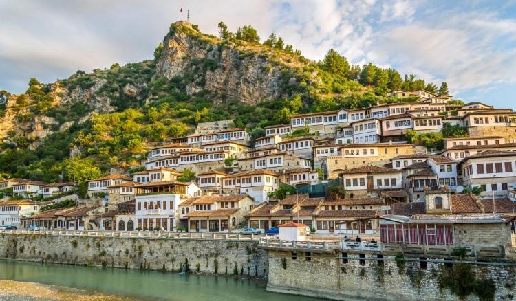 Berat - miasto tysiąca okien, Albania