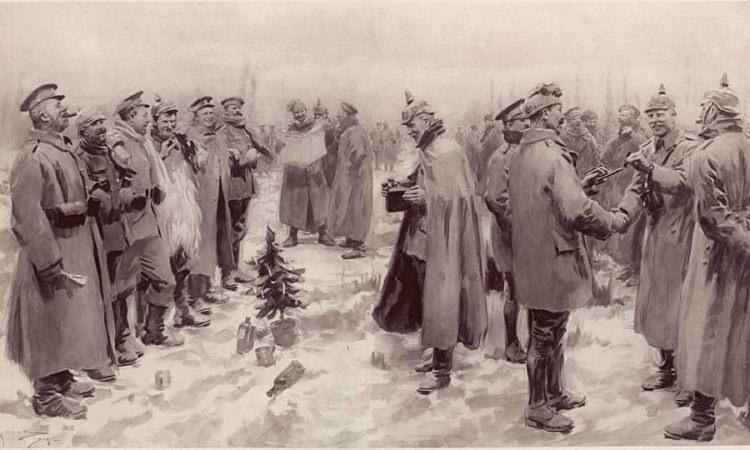 rozejm bożonarodzeniowy z 1914 roku.