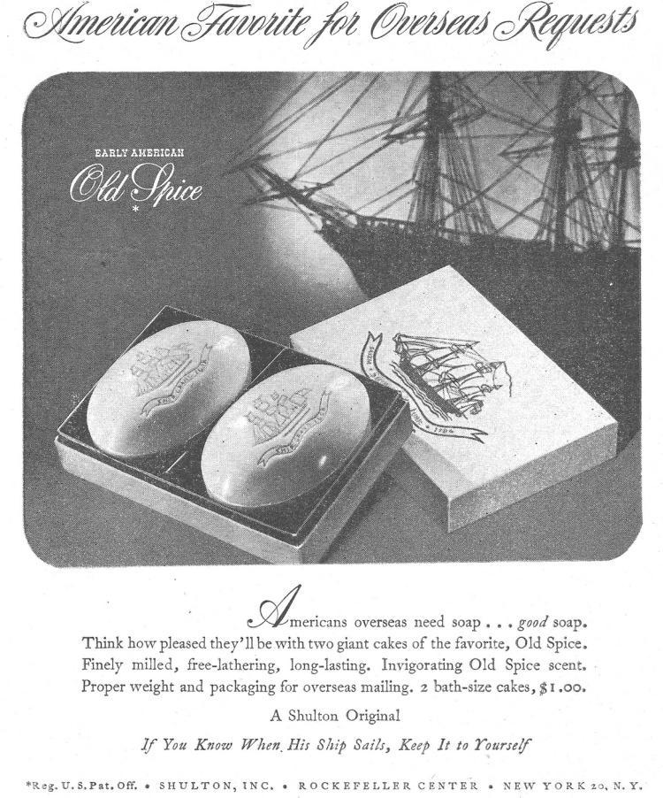 Reklama Old Spice z 1945 roku