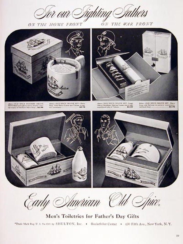 Reklama Old Spice z okresu II wojny światowej
