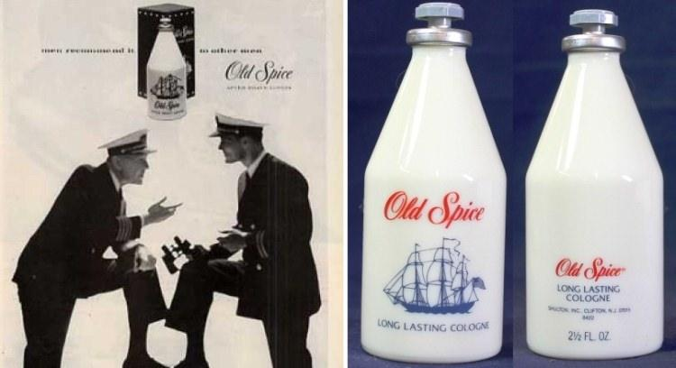 Old Spice - stara reklama i klasyczna butelka