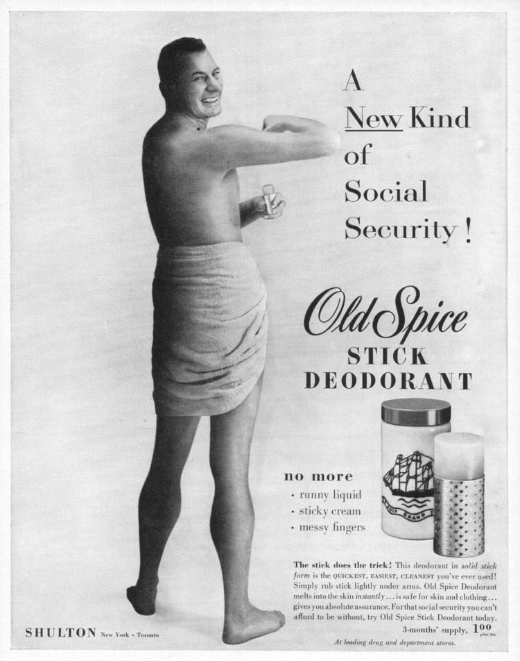 Reklama Old Spice z 1954 roku