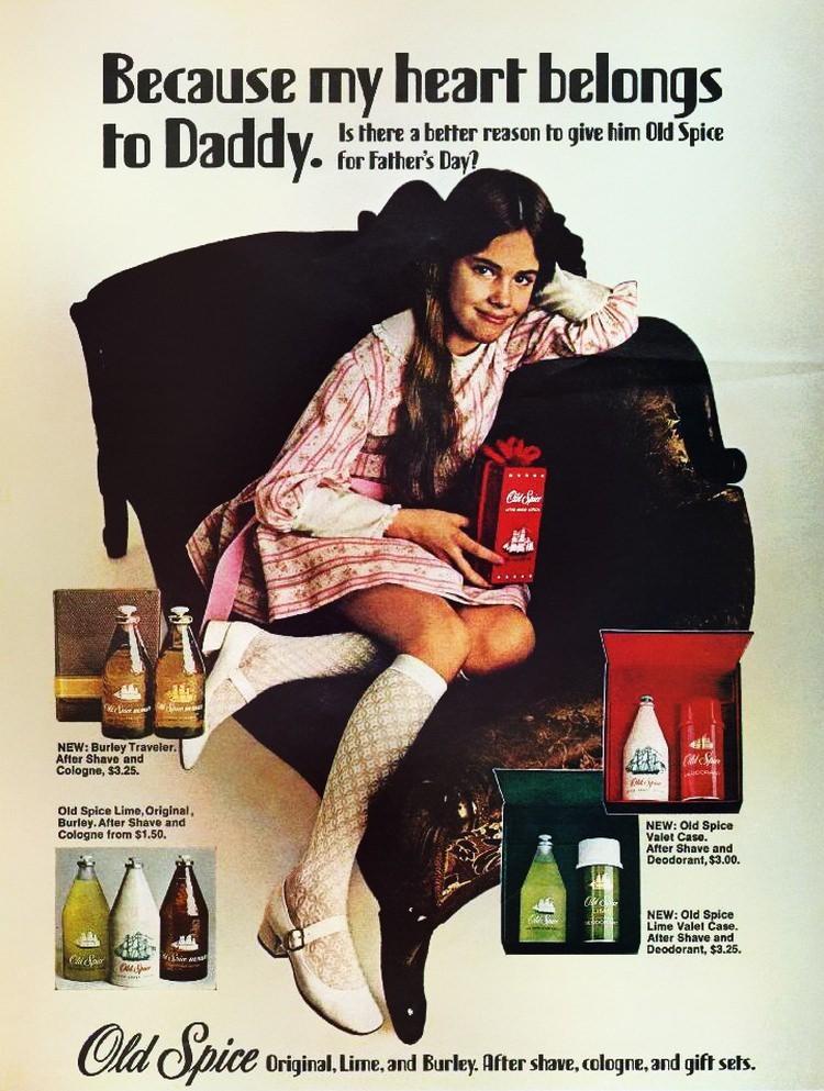 Reklama Old Spice z 1970 roku