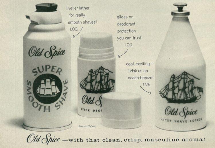 Reklama Old Spice z 1966 roku