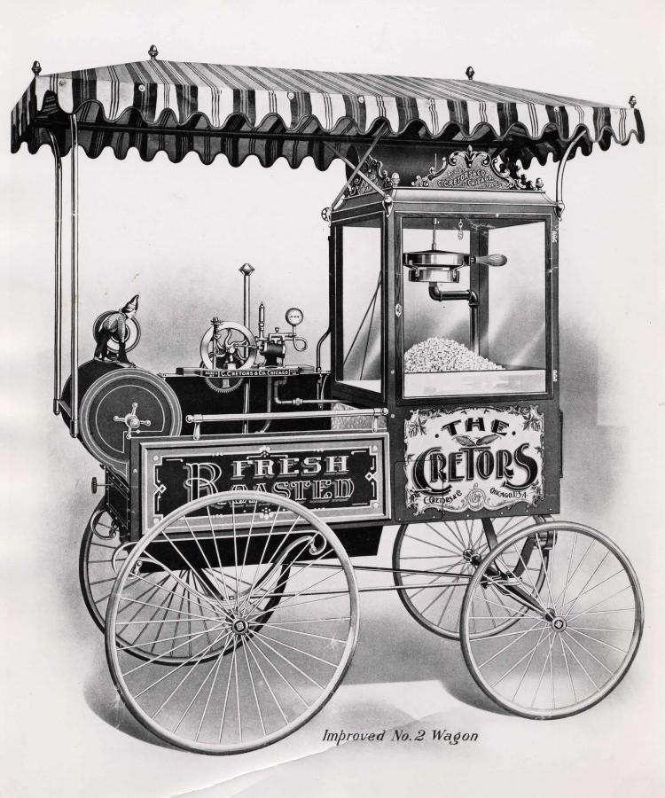 pierwsza maszyna do popcornu - wynalazek Cretorsa