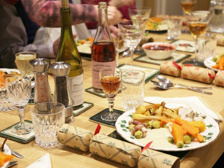 świąteczna kolacja w Anglii