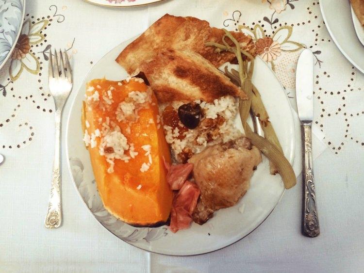 świąteczna kolacja w Armenii