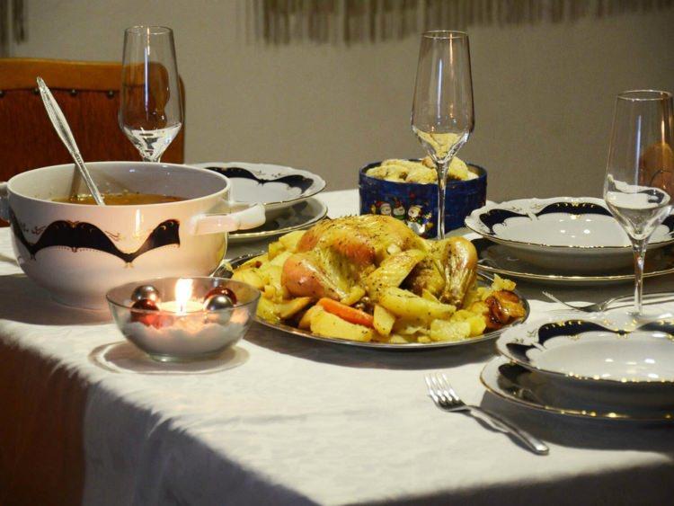 świąteczna kolacja w Chorwacji