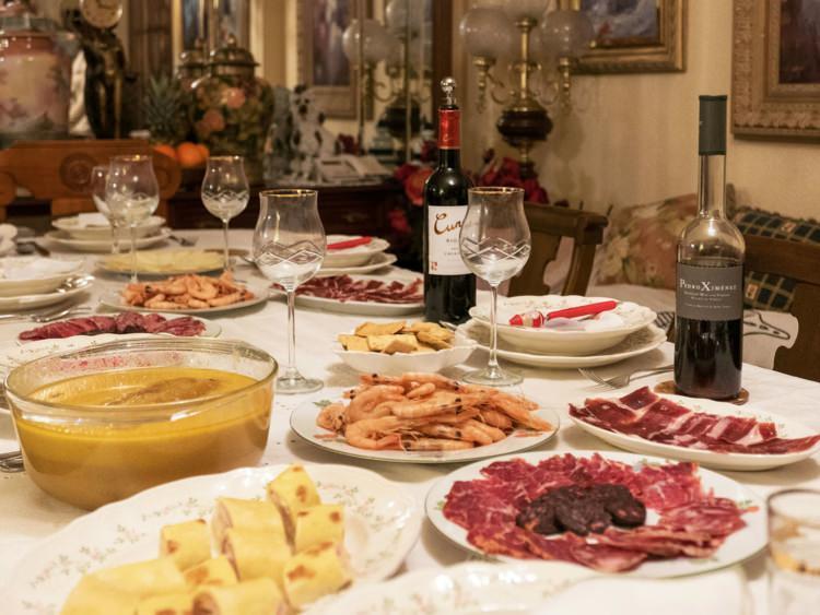 świąteczna kolacja w Hiszpanii