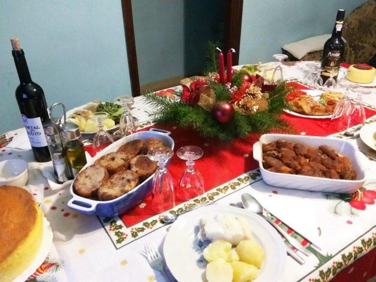 świąteczna kolacja w Portugalii