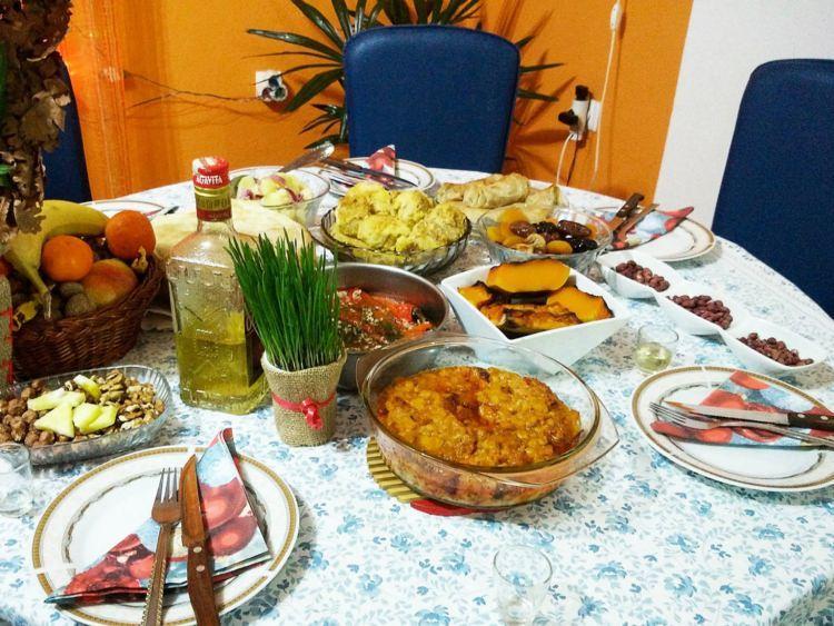 świąteczna kolacja w Serbii