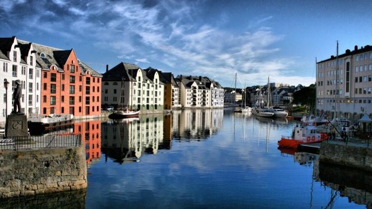 Alesund w Norwegii