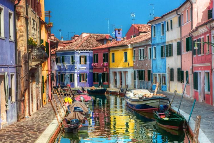 Kolorowe domy w Burano