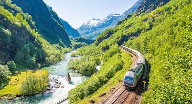 flamsbana - kolej w Norwegii