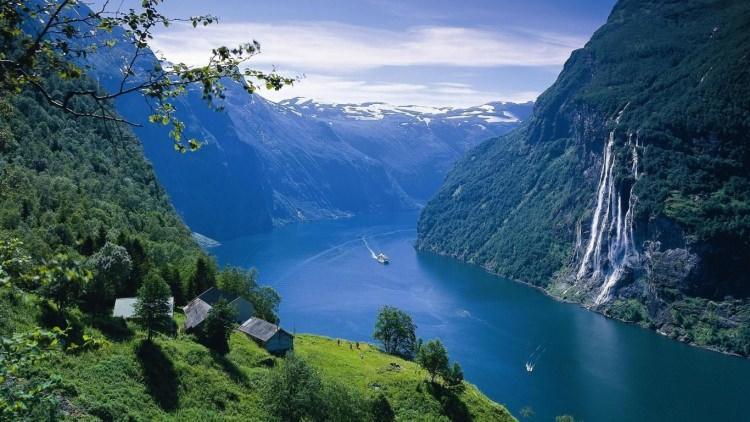 Geirangerfjord w Norwegii