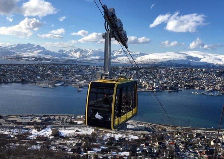 kolejka Fjellheisen w Tromso