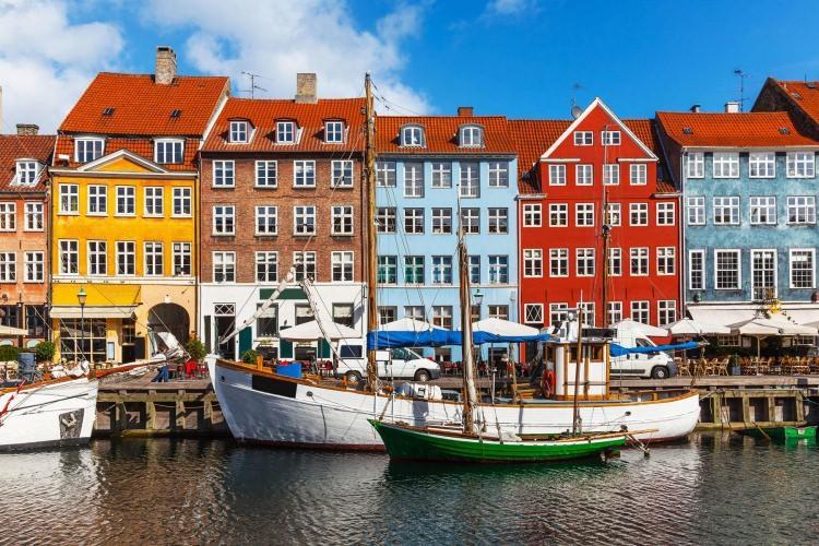 Nyhavn w Danii