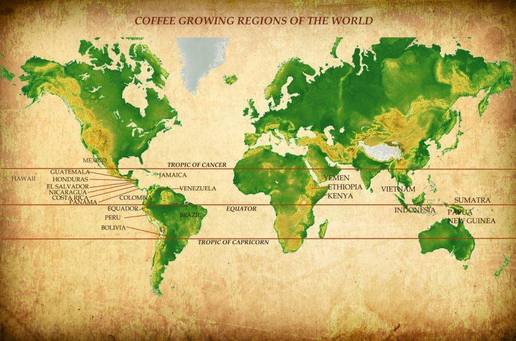 Pas kawowy, czyli gdzie rośnie kawa na świecie