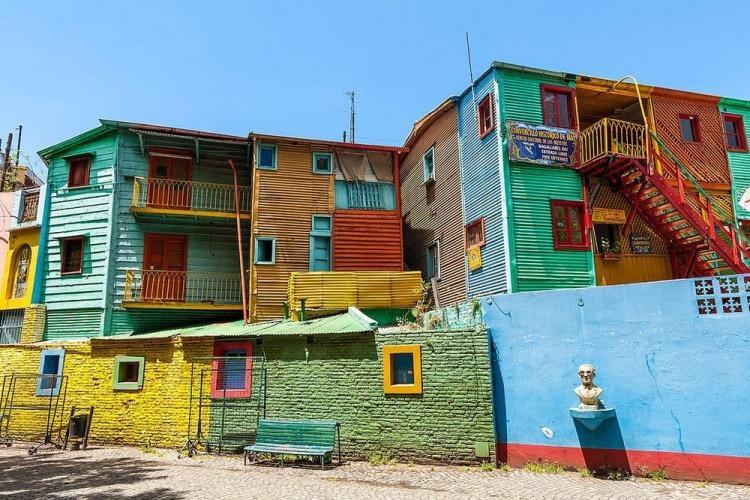 La Boca - kolorowa dzielnica w Argentynie