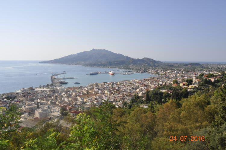 widok na Zakynthos