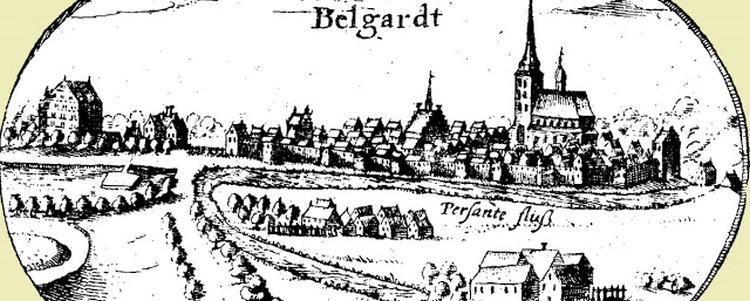 Panorama Białogardu z roku 1618