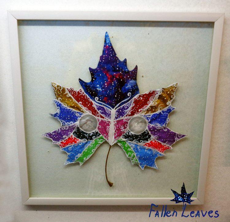 obrazy na jesiennych liściach