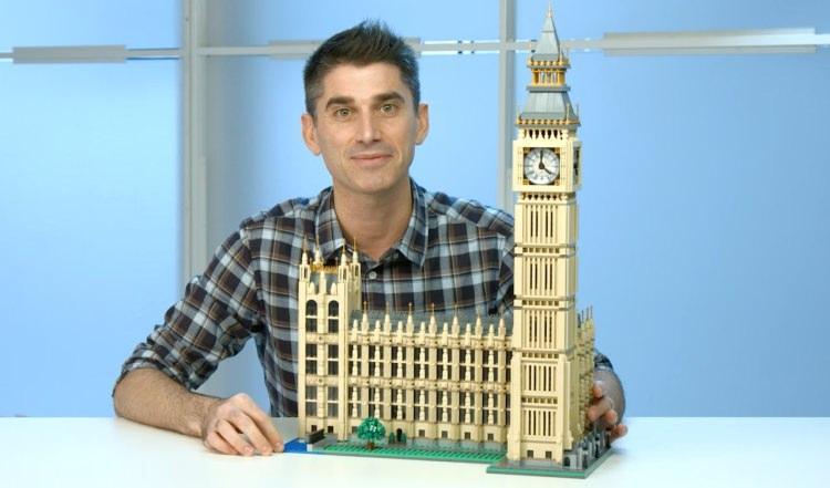 Londyńska wieża Elżbiety (Big Ben) z klocków Lego