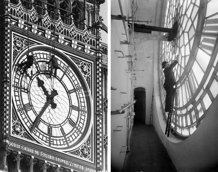 Zegar BIg Bena od środka i czyszczenie zegarów