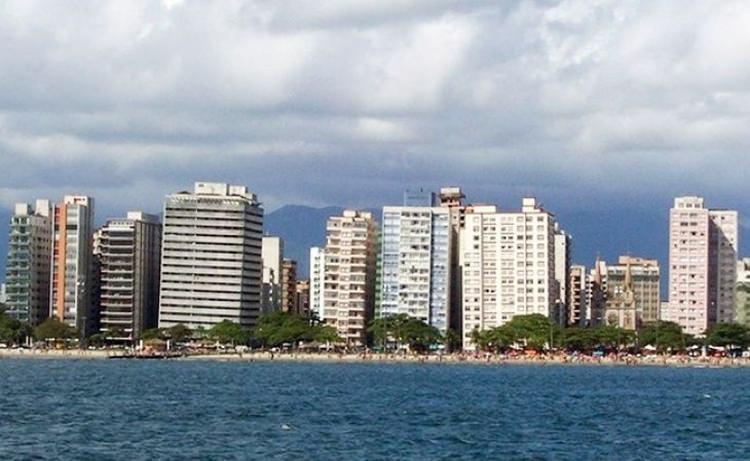 krzywe bloki w Santos - Brazylia