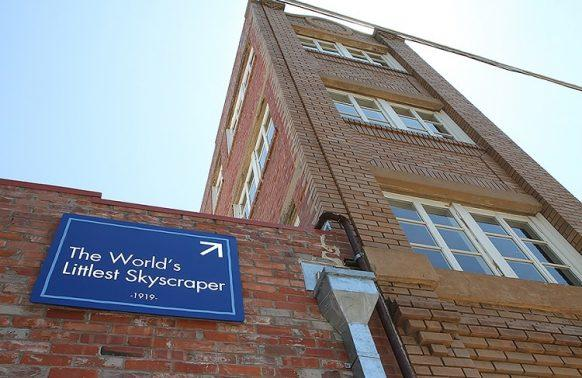 Budynek Newby-McMahon w Wichita Falls - najmniejszy wieżowiec na świecie.
