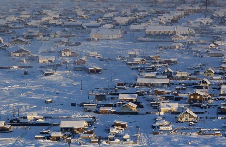 Najzimniejsze zamieszane przez człowieka miejsce na świecie - wieś Ojmiakon w Rosji