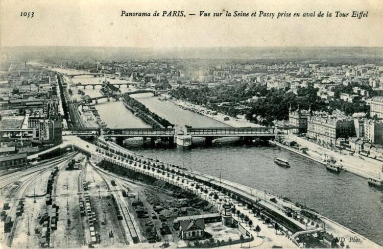Paryż dawniej - widok z wieży Eiffla w 1900 roku