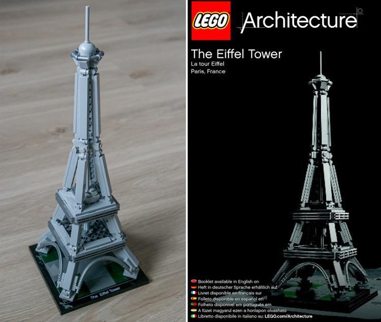 wieża Eiffla z klocków LEGO